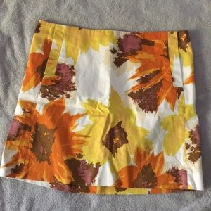 J. Crew fall floral skirt
